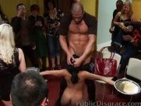 Slut Gets Publicly Gangbanged