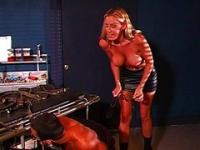 Blonde Domina Facesitting