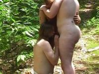 Cubs sucking dick outdoors
