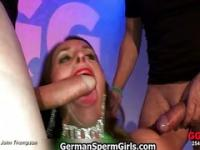 Horny hot euro sluts go crazy sucking
