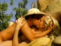 Nicole and Julia Ann share one outdoors