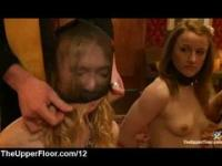 Bad slave punished in front of slave sisters