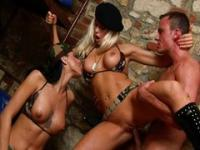 Hot threesome in a bunker