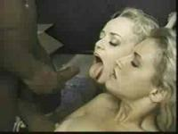 2 white chicks fuck black cock