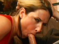 Mouthful of sperm after sucking and shagging