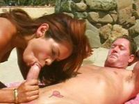Young babe fucked by old man
