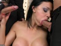 Two cocks for Aletta Ocean