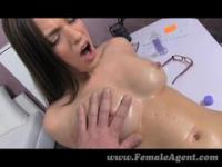 FemaleAgent - Oiled up casting sexy mince