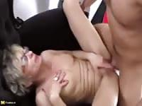 Horny mature woman fucks a young guy