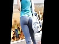 Amazing ass in leggings on the street