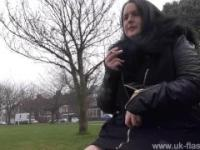 Bbw babe Sarah-Janes public flashing and outdoor exhibitionism of amateur