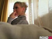 Blonde girl fucked by big dick