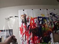 Art students throw a Amazing and messy party