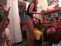 Lusty University Amateurs spin the bottle