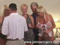 Older gangbang lovemaking celebration