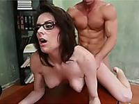 Naughty teacher tight pussy jammed by her horny student