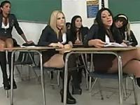 Hot stupid school girls waste time