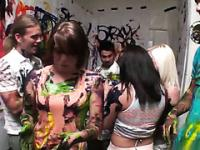 Art students throw a sexy and messy party
