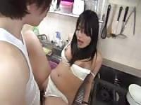 Japanese housewife fucks the plumber