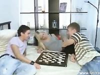 Blonde girlfriend exploited as a chess prize