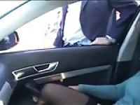 Exhibition of my whore in car fingered by stranger. Public
