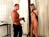 BDSM initiation for a cute blonde