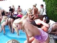 Slut Party Pool Orgy
