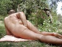 outdoor anal fisting after stretching with caterpillar dildo