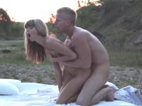Incredible outdoor anal sex