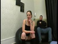 Carine analfucked in front of her husband