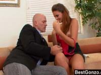 Employee Easily Seduced By Her Boss