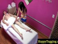 Asian masseur gives a sensual massage