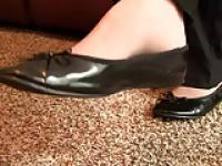 Caroline pantyhose black flats shoeplay preview