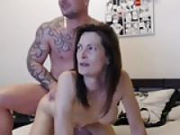 Horny French couple POV