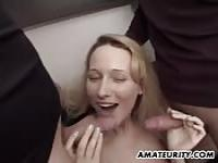 Fucked by her boyfriend's friends