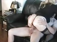 Fat Chubby GF riding cock and getting a creampie