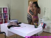 FemaleAgent Busty curvaceous new agent in her first sex tape