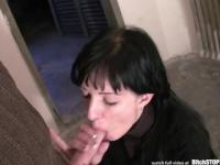 Bitch STOP - Skinny Slovak brunette gets anal fucked