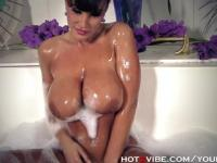 Huge, Soapy Boobs MILF