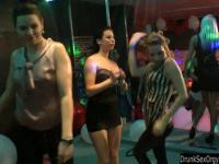 Club chicks dancing erotically