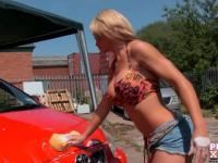 PureXXXFilms Busty Phoebe Adams Carwash and a Facial