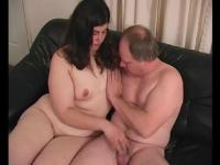 Sassy chubby shows how to jerk it - Train Wreck
