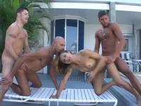 She happily takes on three guys - Legend