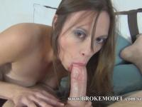 8 Month Pregnant whore fucks massive sex toy, sucks & fucks for creampie