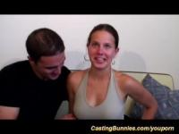 busty french babes first anal casting