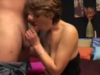 Saucy short-haired chick makes him cum like crazy - Telsev