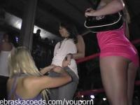 Flashing Tits and Pussy in the Bar Real Girls