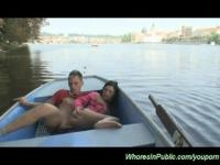 Young Teen is fucked in the boat