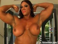 Aziani Iron Amber Deluca female bodybuilder - amazon woman