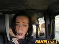 FakeTaxi Dark hair and natural tits takes a good hard fucking